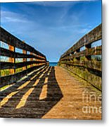 Bridge To The Beach Metal Print