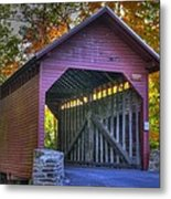 Bridge To The Past Roddy Road Covered Bridge-a1 Autumn Frederick County Maryland Metal Print
