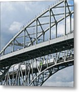 Bridge Traffic Metal Print