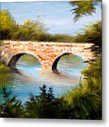 Bridge Under El Dorado Lake Metal Print by Robert Carver