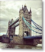 Bridges And Clouds Metal Print