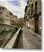 Bridges At Darro Street In Historic Albaycin In Granada Metal Print