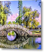 Bridges At Liliuokalani Park Hilo Metal Print