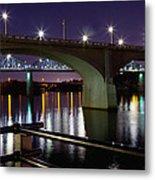 Bridges At Night Metal Print