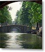 Bridges In Amsterdam Metal Print