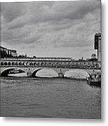 Bridges In Paris Metal Print