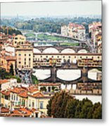 Bridges Of Florence Metal Print by Susan Schmitz