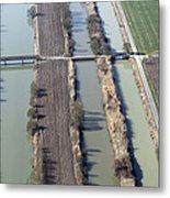 Bridges Over Channels, Vix Metal Print