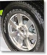 Bridgestone Tire Metal Print