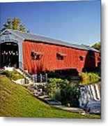 Bridgeton Covered Bridge 3 Metal Print