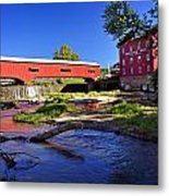 Bridgeton Covered Bridge 4 Metal Print by Marty Koch