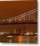 Bridging New Jersey And Pennsylvania Metal Print