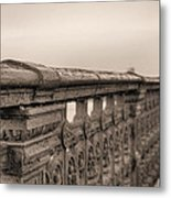 Bridging The Charles Bw Metal Print