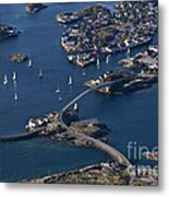 Bridging The Ocean Metal Print