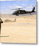 Brigade Aviation Officer Salutes Metal Print