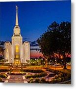 Brigham City Temple Twilight 1 Metal Print