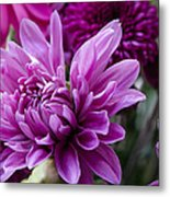 Bright And Beautiful Easter Mums Metal Print