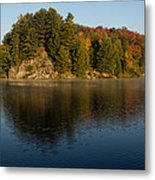 Bright And Sunny Autumn Reflections Metal Print