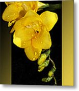 Bright And Yellow Metal Print