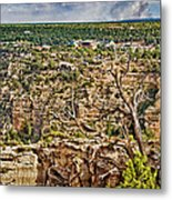 Bright Angel And El Tovar Hotel South Rim Metal Print