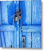 Bright Blue Door Metal Print