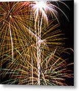 Bright Bursts Of Fireworks Metal Print