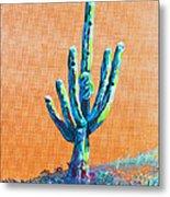 Bright Cactus Metal Print