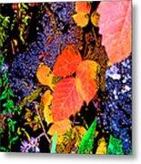 Bright Colorful Leaves Vertical Metal Print