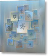 Snowflake Collage - Bright Crystals 2012-2014 Metal Print by Alexey Kljatov