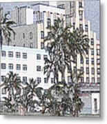Bright Light Miami Beach Metal Print