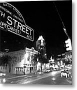 Bright Lights At Night Metal Print by John Gusky
