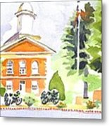 Bright Morning At The Courthouse Metal Print