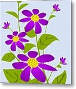 Bright Purple Metal Print