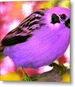Bright Purple Finch Metal Print