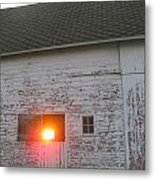 Bright Sunrise Through Barn Metal Print