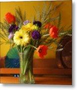 Bright Winter Bouquet Metal Print