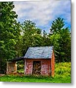 Bright Wood Shed Metal Print