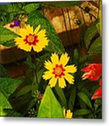 Bright Yellow Flowers Metal Print