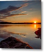 Brilliant Sunrise. Baxter Lake Nh Metal Print