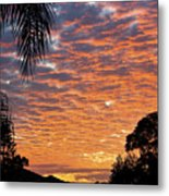 Brilliant Sunset During Winter Metal Print