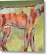 Brindle Greyhound Metal Print by Carol Jo Smidt