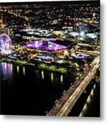 Brisbane South Bank From The 32nd Floor Metal Print