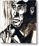 British Coal Miner Metal Print
