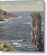 British Coastal View. Coast Of Cornwall Metal Print