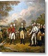 British General John Burgoyne Surrenders At Saratoga Metal Print