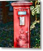 British Mail Box Metal Print