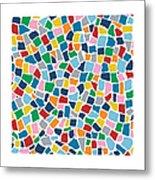 British Mosaic Multi Metal Print
