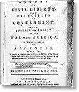 British Pamphlet, 1776 Metal Print