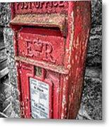 British Post Box Metal Print by Adrian Evans