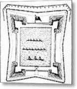 British Redoubt, 1777 Metal Print